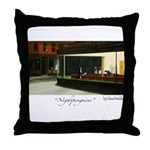 Nightpenguins is back! Throw Pillow