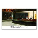 Nightpenguins is back! Rectangle Sticker