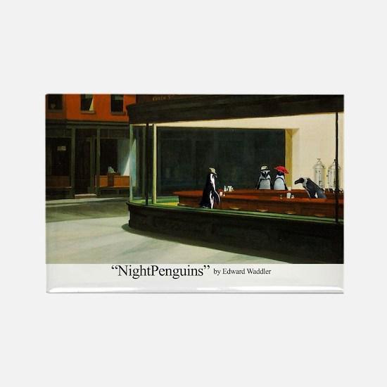 Nightpenguins is back! Rectangle Magnet