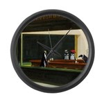 Nightpenguins is back! Large Wall Clock