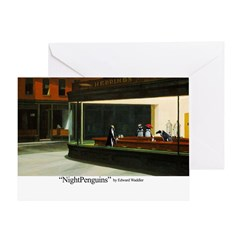 Nightpenguins is back! Greeting Card
