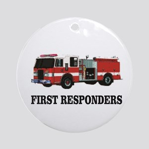 first responders Round Ornament