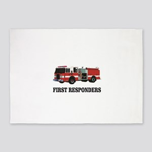 first responders 5'x7'Area Rug