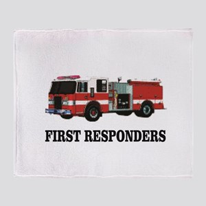 first responders Throw Blanket