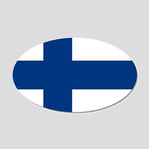 Flag: Finland 20x12 Oval Wall Decal