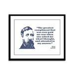 Thoreau - Compliment Framed Panel Print