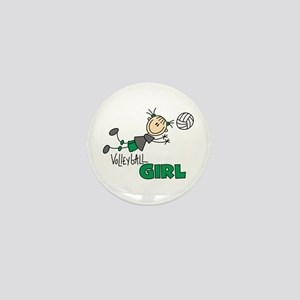 Volleyball Girl Mini Button