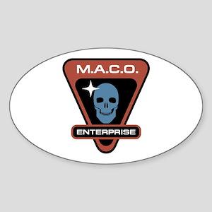 ENTERPRISE Skull Sticker (Oval)