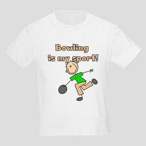Stick Figure Bowling Kids Light T-Shirt