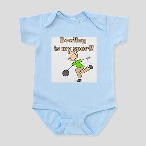 Stick Figure Bowling Infant Bodysuit