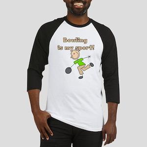 Stick Figure Bowling Baseball Jersey