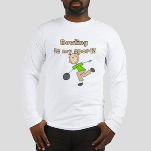 Stick Figure Bowling Long Sleeve T-Shirt