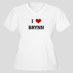 I Love BRYNN Women's Plus Size V-Neck T-Shirt