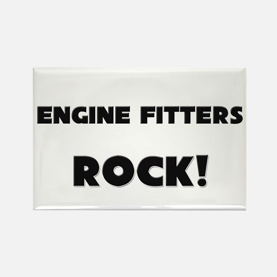 Engine Fitters ROCK Rectangle Magnet