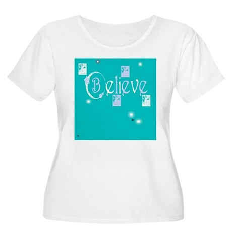 Believe Women's Plus Size Scoop Neck T-Shirt