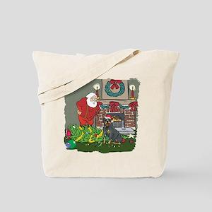 Santa's Helper Rottweiler Tote Bag