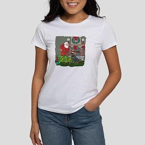 Santa's Helper Rottweiler Women's T-Shirt