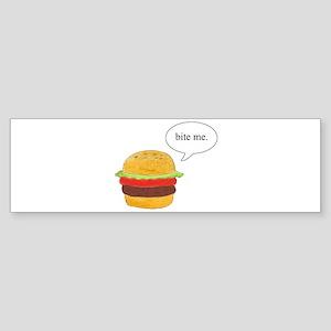 Bite Me Burger Bumper Sticker