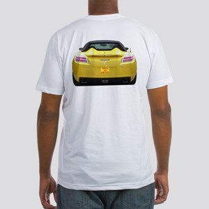 SKY-FRONT & REAR Fitted T-Shirt