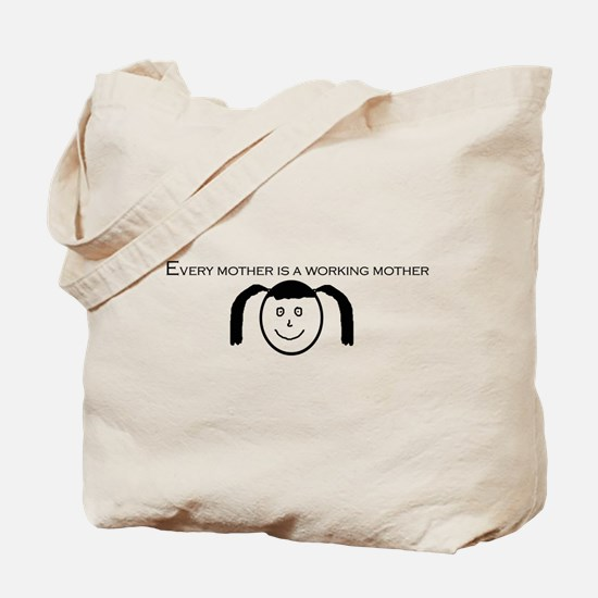 Girl's Face Tote Bag
