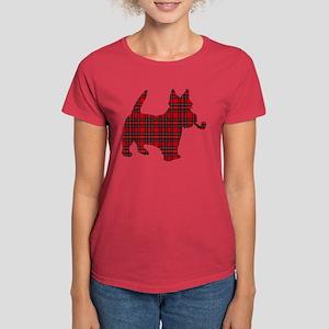 Scottish Terrier Tartan Women's Dark T-Shirt