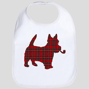 Scottish Terrier Tartan Bib