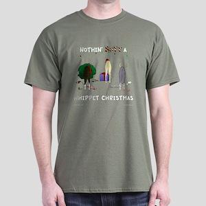 Nothin' Butt A Whippet Xmas Dark T-Shirt