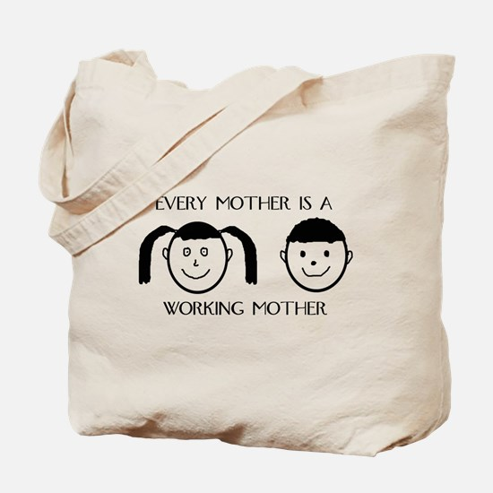 Boy and Girl Face Tote Bag