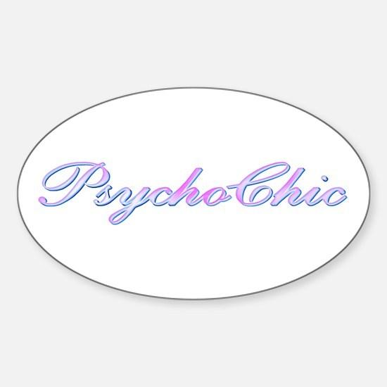 Violet PsychoChic Oval Decal
