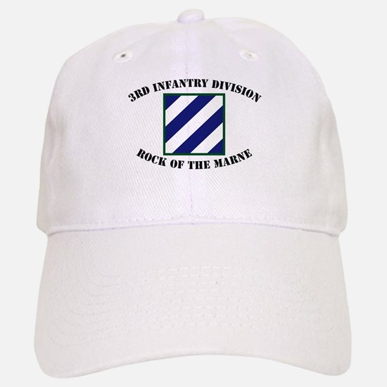 3ID Rock of the Marne Baseball Baseball Cap