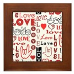 Love WordsHearts Framed Tile
