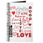 Love WordsHearts Journal