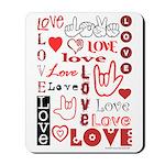 Love WordsHearts Mousepad