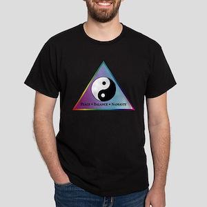 Peace, Balance, Namaste Dark T-Shirt