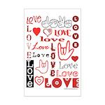 Love WordsHearts Mini Poster Print
