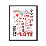 Love WordsHearts Framed Panel Print