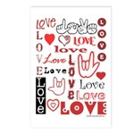 Love WordsHearts Postcards (Package of 8)