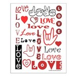 Love WordsHearts Small Poster