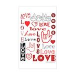 Love WordsHearts Rectangle Sticker