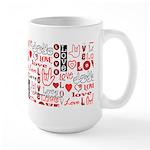 Love WordsHearts Large Mug