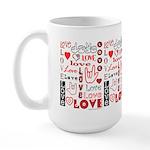 Love WordsHearts ABC Large Mug