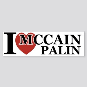 I Luv McCain Palin Bumper Sticker