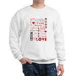 Love WordsHearts Sweatshirt