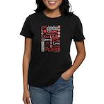 Love WordsHearts Women's Dark T-Shirt