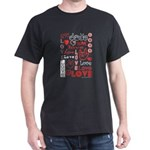 Love WordsHearts Dark T-Shirt