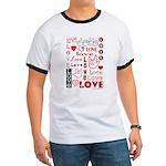 Love WordsHearts Ringer T