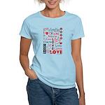 Love WordsHearts Women's Light T-Shirt