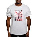 Love WordsHearts Light T-Shirt
