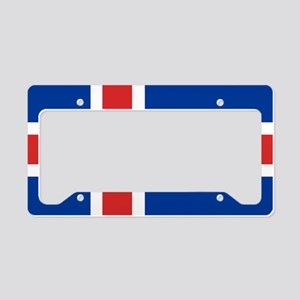 Flag: Iceland License Plate Holder