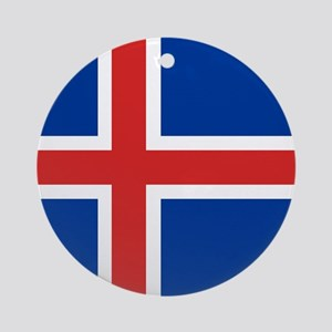 Flag: Iceland Round Ornament